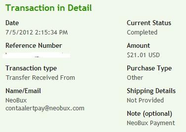 доказательство выплат с NeoBux