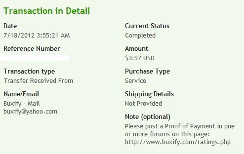 доказательство выплат с Buxify
