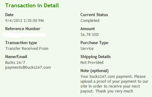 доказательство выплат с Bucks247
